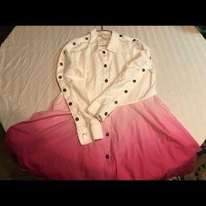 MAJE Cotton 2-Tone Dress [Bloomingdale's]